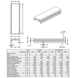 PIC16F884-I/P Dip-40 20MHz 8-Bit Mikrodenetleyici - Thumbnail