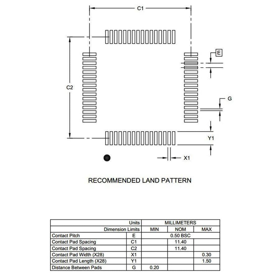 PIC18F67K40-I/PT 8-Bit 64MHz SMD Mikrodenetleyici TQFP64