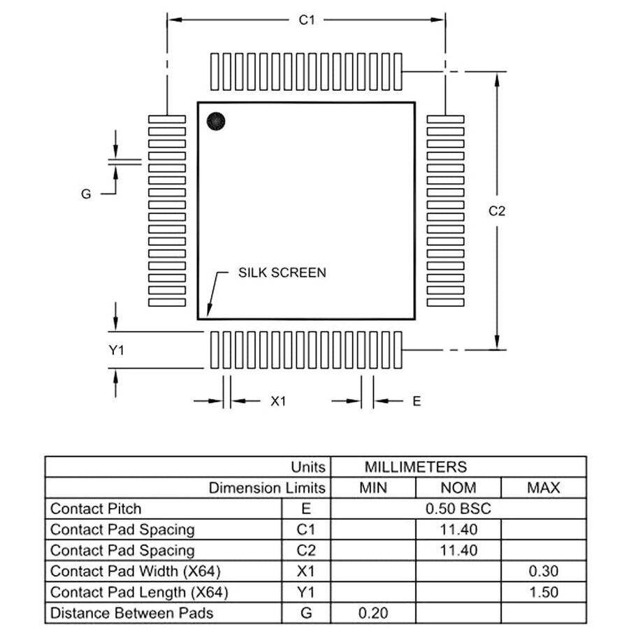PIC24FJ128GA106T-I/PT SMD 16Bit 32Mhz Mikrodenetleyici TQFP64