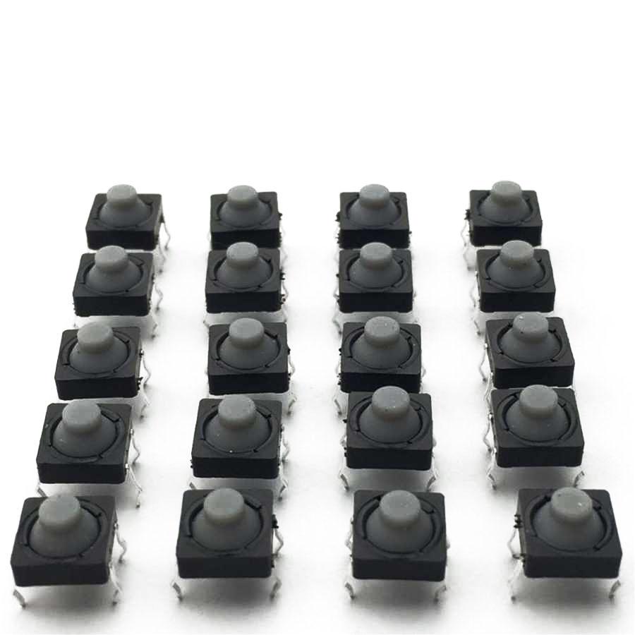 8x8 5mm 4 Pinli Plastik Başlı Buton