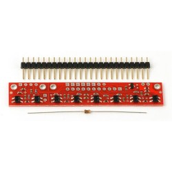QTR-8RC Kızılötesi Çizgi Takip Sensörü - Yansıtıcı Optik Sensör Modülü - Thumbnail