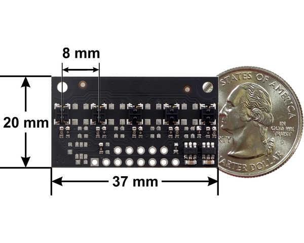QTR-MD-05A 5 Kanal Analog Kızılötesi Sensör Modülü - 8mm