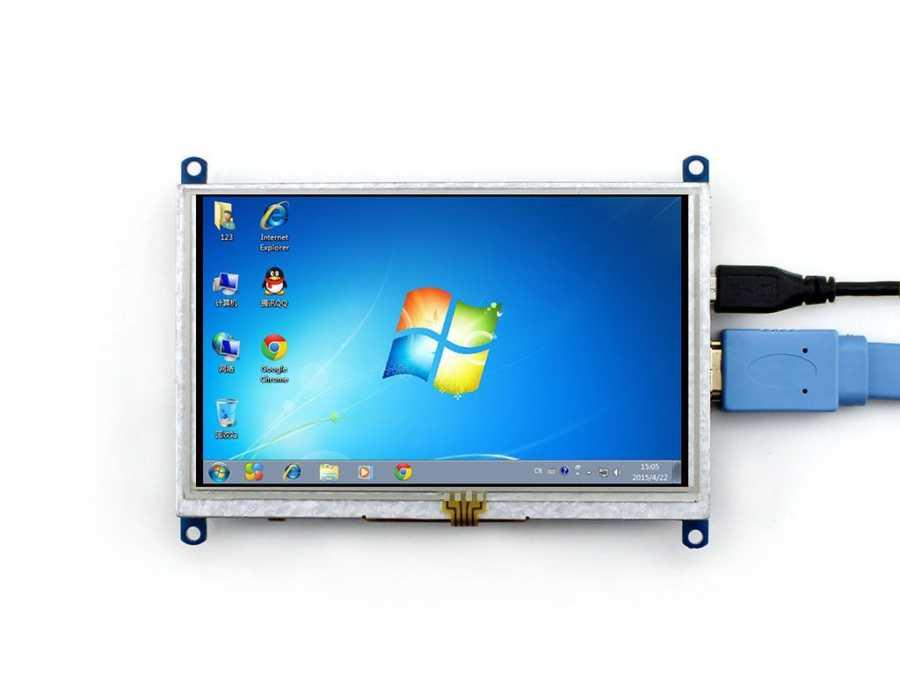 Raspberry Pi 5 Inch HDMI Lcd (B) Ekran 800×480 Geniş Platform Desteği