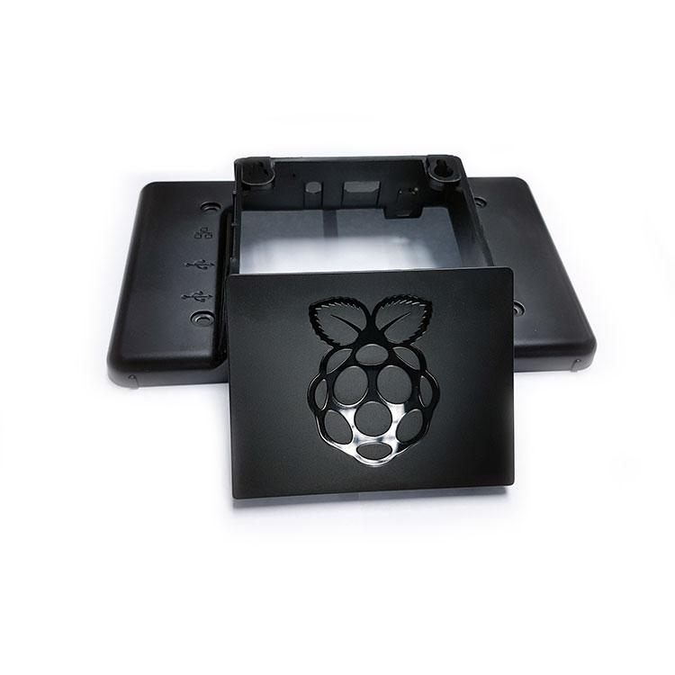 Orjinal Raspberry Pi 3 Muhafazası - Kutusu (7 inç Orjinal Ekran Kasası) Siyah