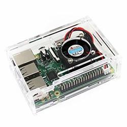 Raspberry Pi 4 Soğutma Fanlı Şeffaf Kutu - Thumbnail