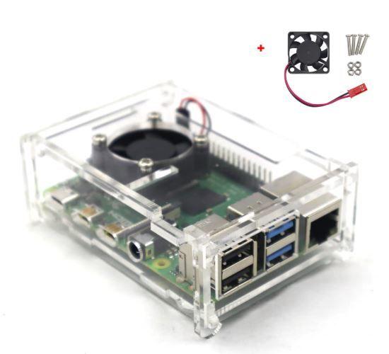Raspberry Pi 4 Soğutma Fanlı Şeffaf Kutu
