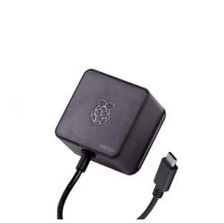 Raspberry Pi 4 Lisanslı Siyah Güç Adaptörü - 5V-3A Orijinal - Thumbnail