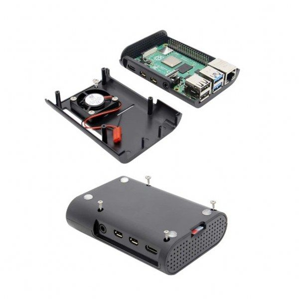 Raspberry Pi 4 Model B Soğutma Kutusu - Siyah