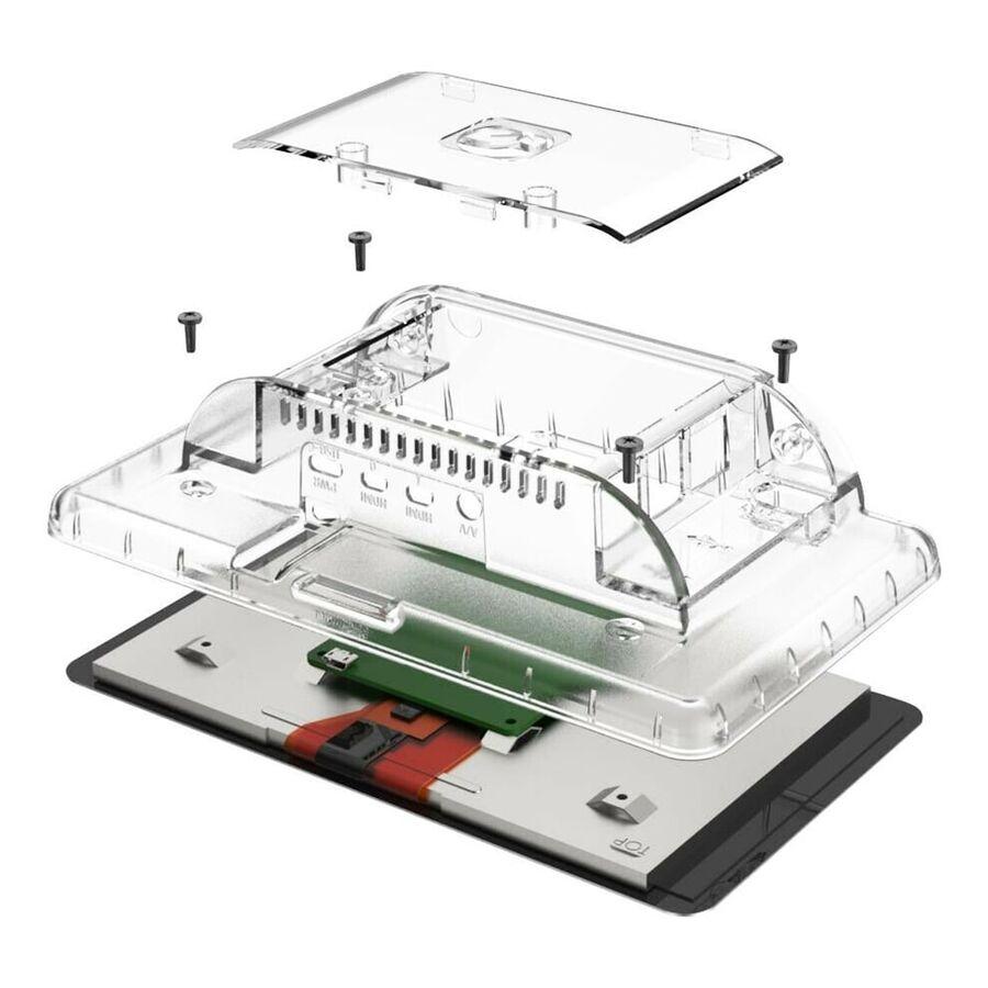 Raspberry Pi 4 Uyumlu Dokunmatik Ekran Kasası - Şeffaf