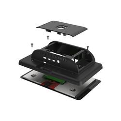 Raspberry Pi 4 Uyumlu Dokunmatik Ekran Kasası - Siyah - Thumbnail