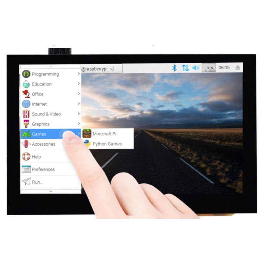 Raspberry Pi 4.3 inç Kapasitif Dokunmatik Ekran DSI Arayüz 800×480