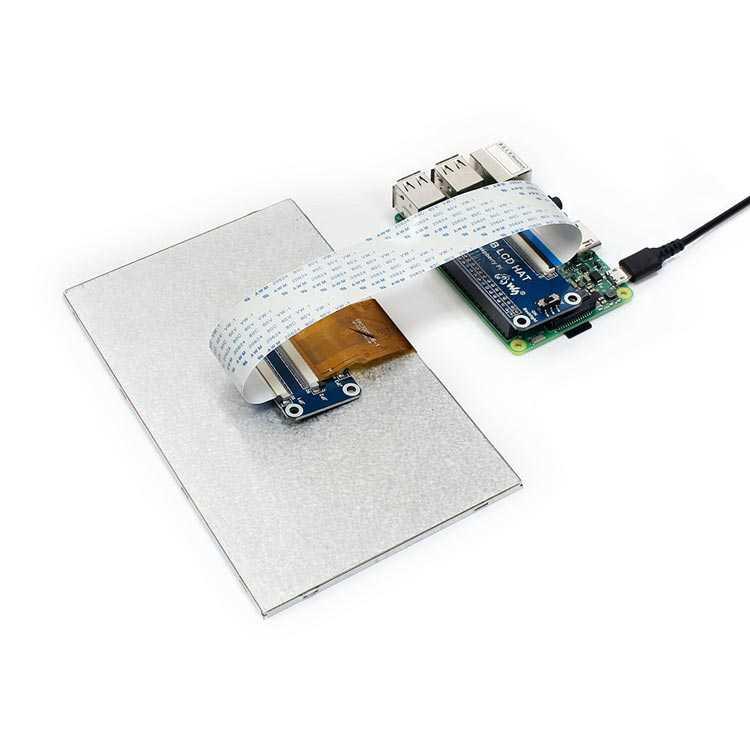Raspberry Pi 7 Inch IPS Lcd Ekran - DPI Arayüz - 1024x600