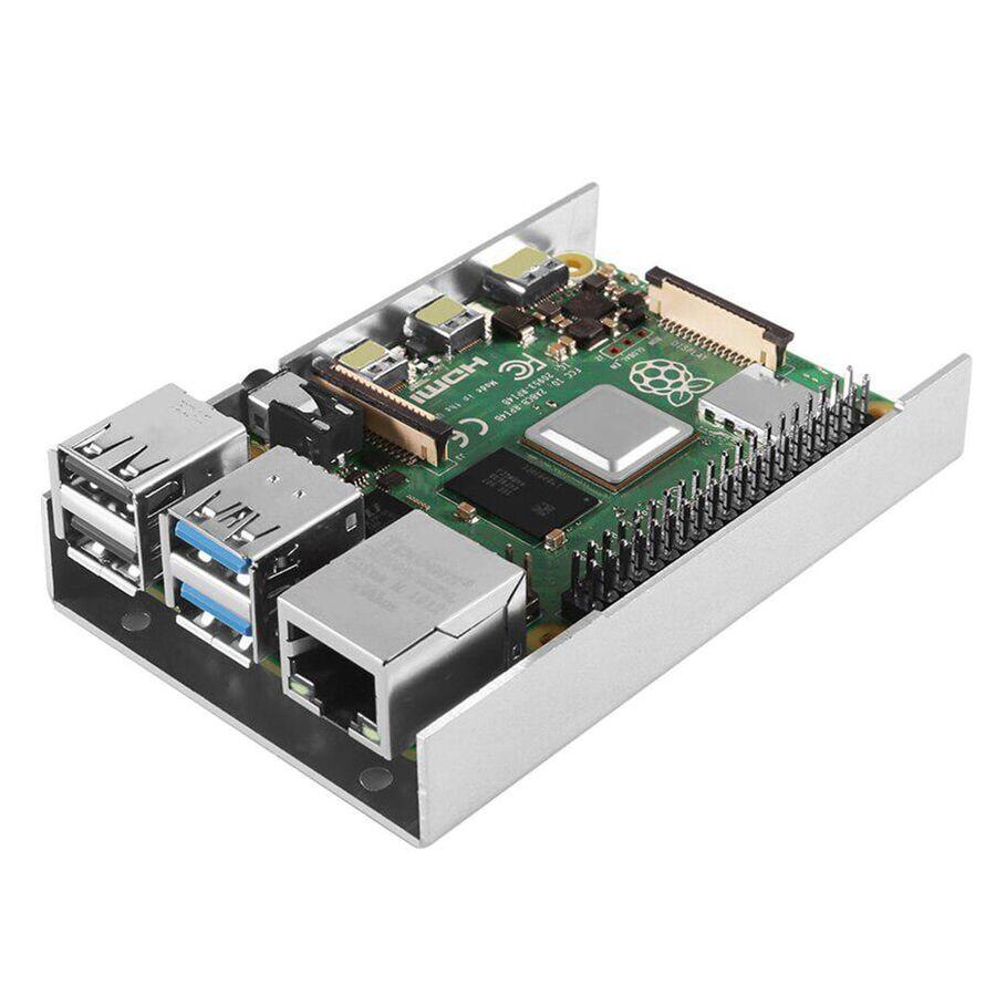 Raspberry Pi 4 Alüminyum Metal Kasa - Muhafaza Kutusu