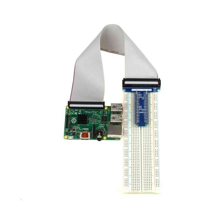 Raspberry Pi Breadboard T-Cobbler + 40 Pin Kablo