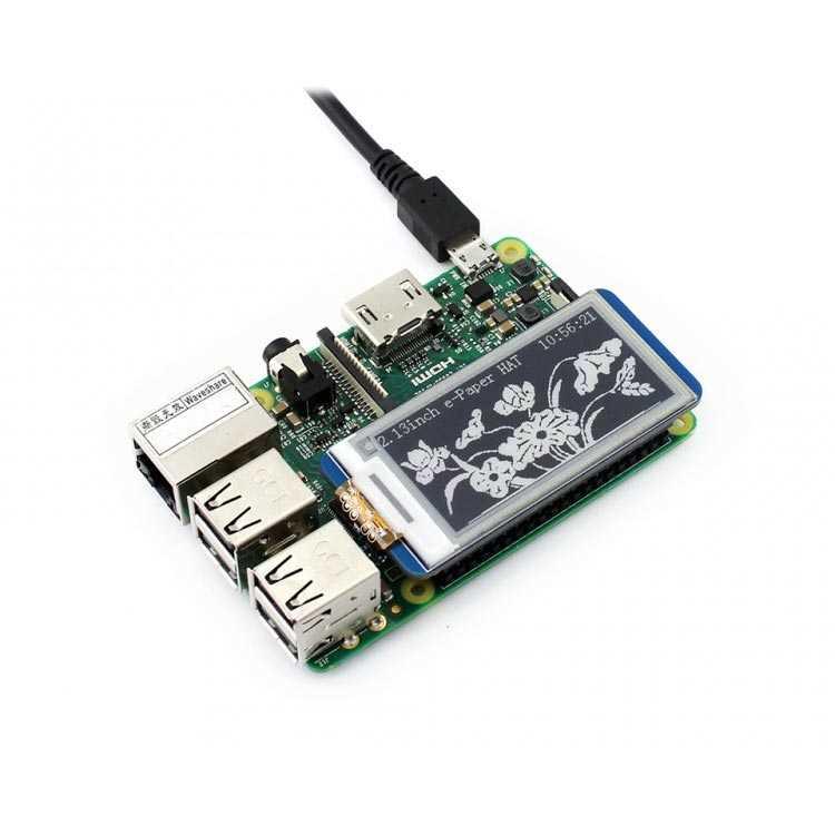 Raspberry Pi 250x122 Çözünürlüklü 2.13 inç Mürekkep Ekran