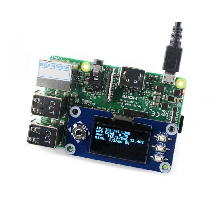 Raspberry Pi 128x64 1.3 inç OLED Ekran - Waveshare