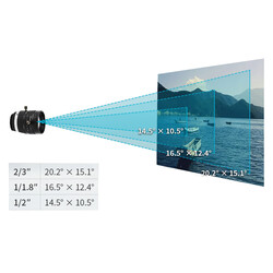 Raspberry Pi Yüksek Kalite Kamera 25mm Telefoto Lens - Thumbnail
