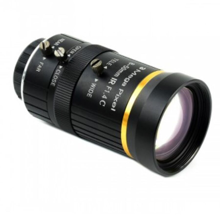 Raspberry Pi Yüksek Kalite Kamera 8-50mm Zoom Lens