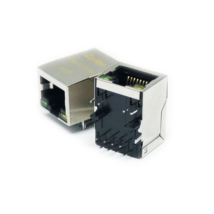RJ45 Led + Bobinli Hanrun Ethernet Konnektörü - HR911105A