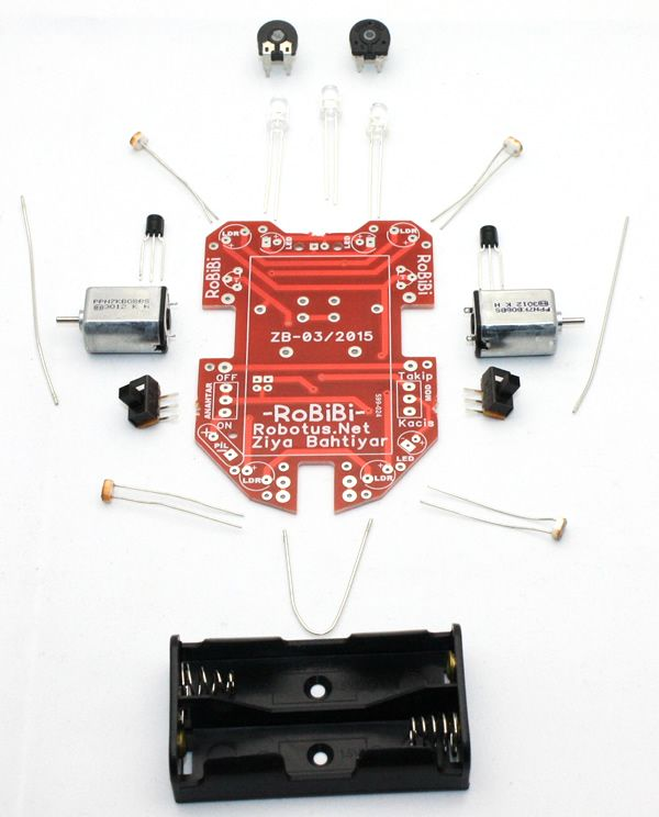 RoBİBİ Işık İzleyen Robot Kiti
