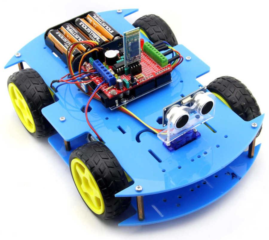 ROBOMOD Bluetooth Kontrollü Arduino Araba - Mavi (Demonte)