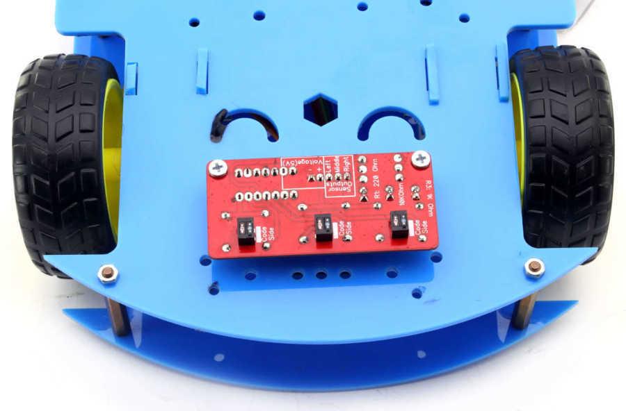 ROBOMOD Bluetooth Kontrollü Arduino Araba - Mavi (Montajı Yapılmış)
