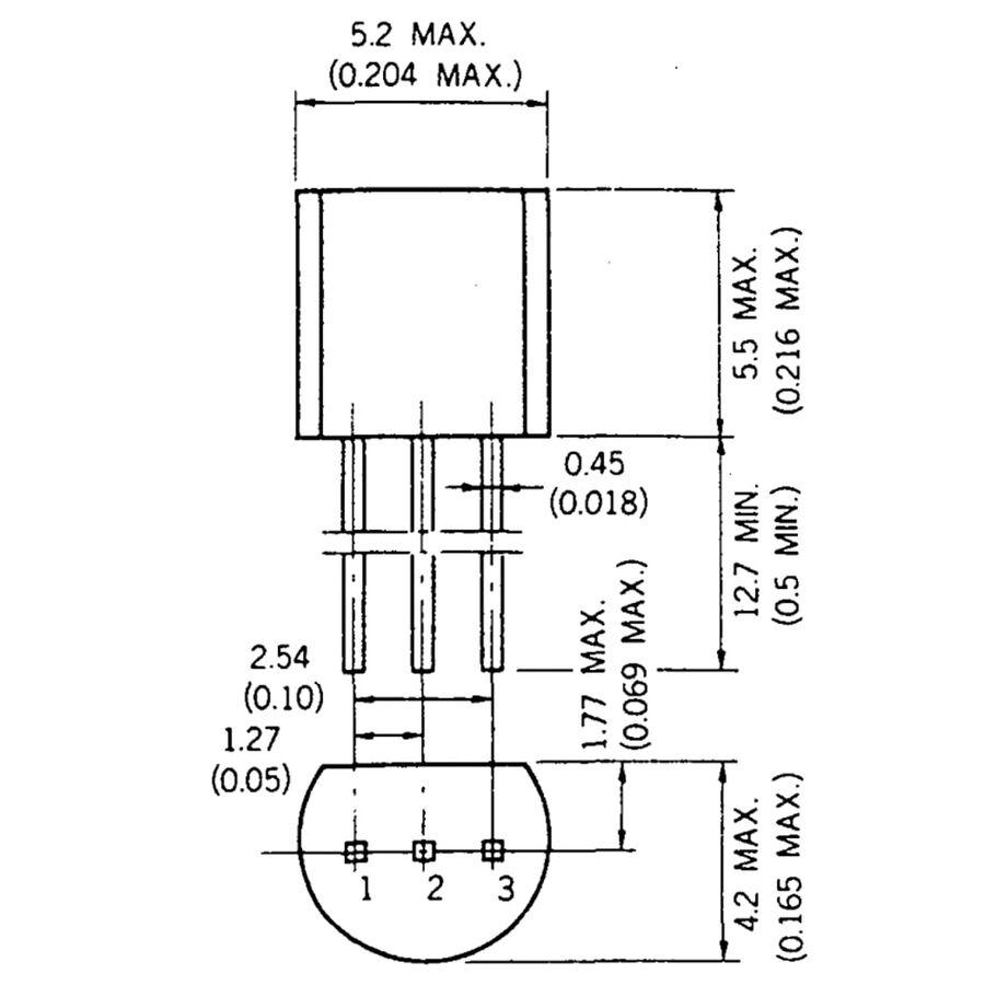 S8050 Npn Bjt Transistör To-92