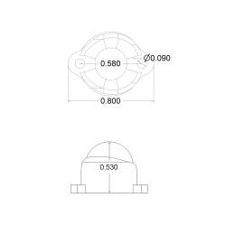 Plastik Sarhoş Teker 0,5 Inch - Pololu - Thumbnail