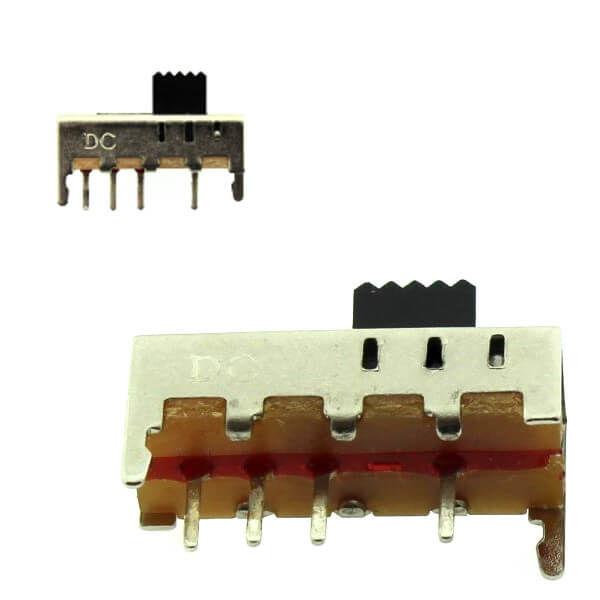 Slide Switch 6X17MM 0.3A 50VDC 1P3T