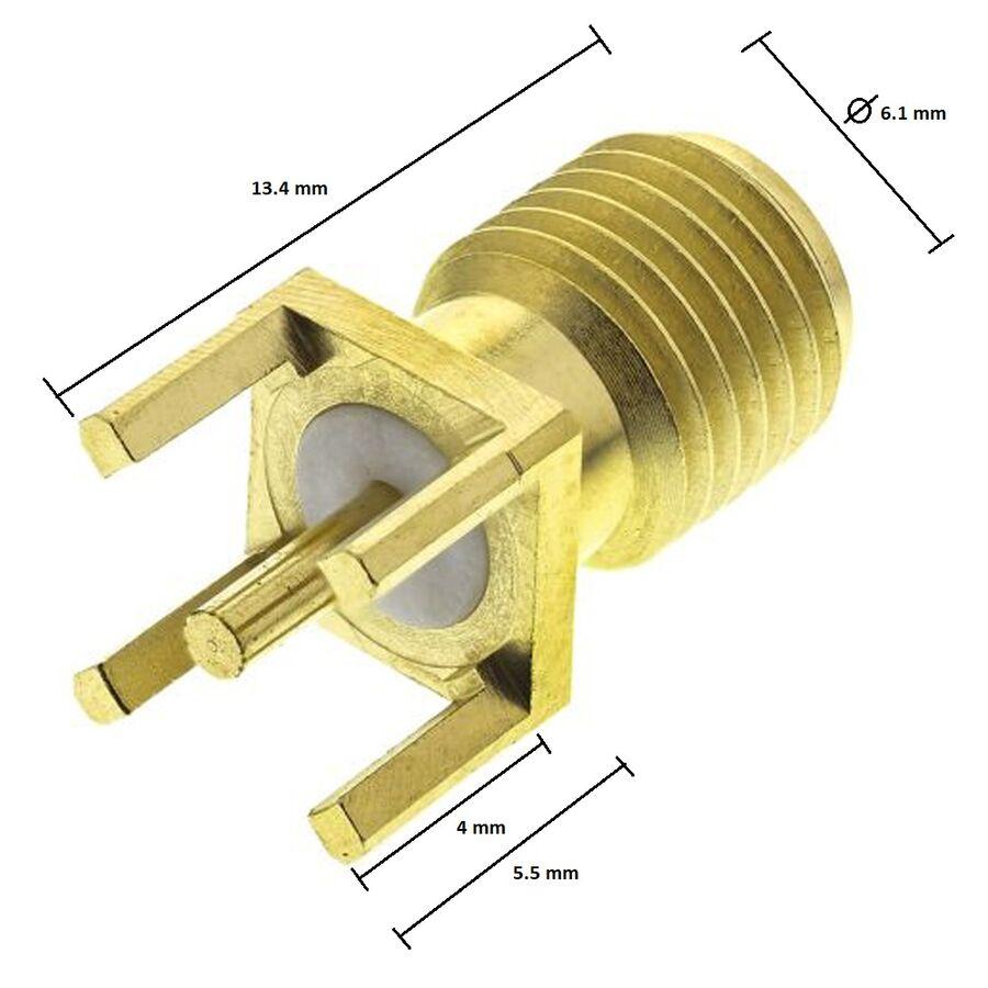 Sma 180C Dişi Konnektör Geniş Ayak (SA0N1T0G)