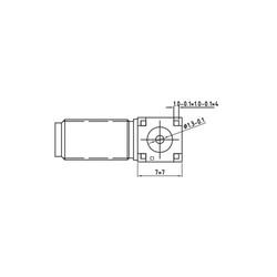 SMA Dişi PCB Dayanağı Konnektör 50R 18GHz - Thumbnail