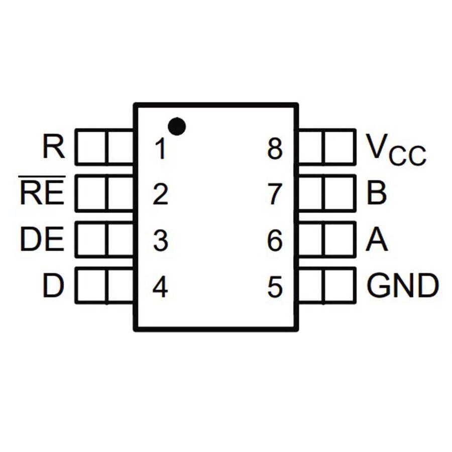 SN65HVD08DR 16mA Smd RS-485 Alıcı-Verici Entegresi SOIC8