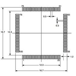 STM32F207VCT6 32-Bit 120Mhz Mikrodenetleyici LQFP100 - Thumbnail