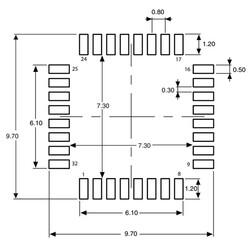 STM32L051K6T6 32 Bit 32MHz Mikrodenetleyici LQFP32 - Thumbnail
