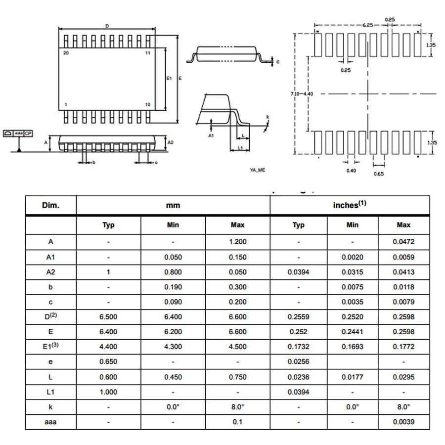 STM8S103F3P6 Smd 8-Bit 16MHz Mikrodenetleyici Tssop-20