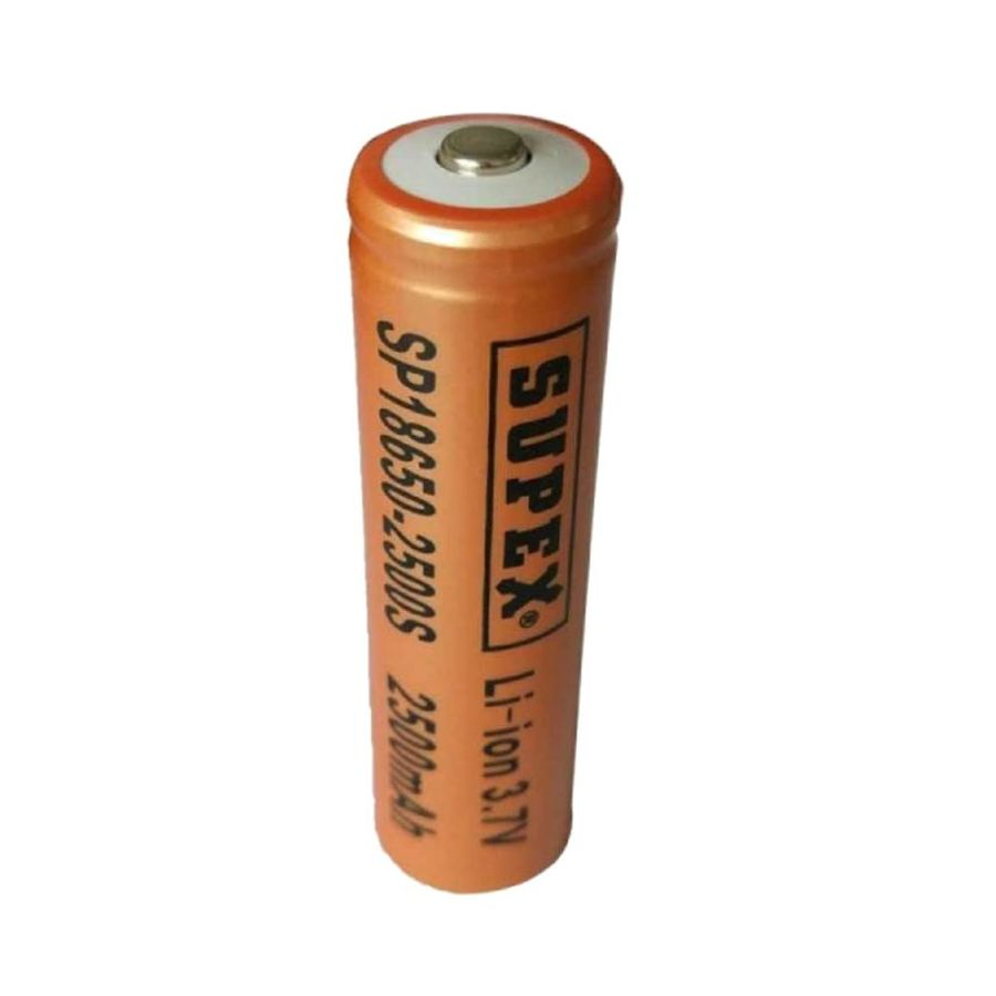 Supex 18650 3.7V - 2500mAh Şarjlı Lityum Pil