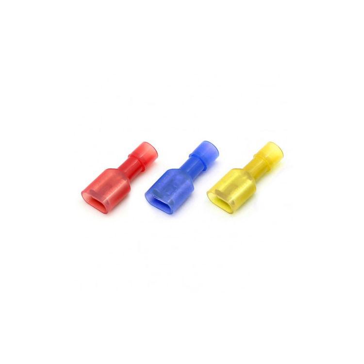 Tam İzoleli Polyamid Dişi Faston Tip Kablo Ucu - Kırmızı