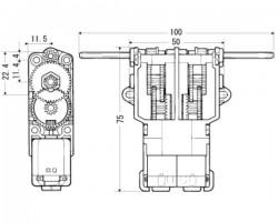 Tamiya İkiz Motor Şanzıman Seti 70097 - Thumbnail