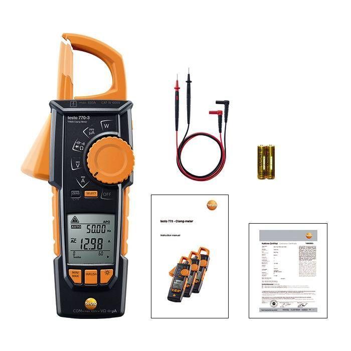 Testo 770-3 - Pens Ampermetre Bluetooth'lu
