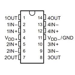 TLC2254CDR 220uV 160uA Smd Amplifikatör SOIC14 - Thumbnail