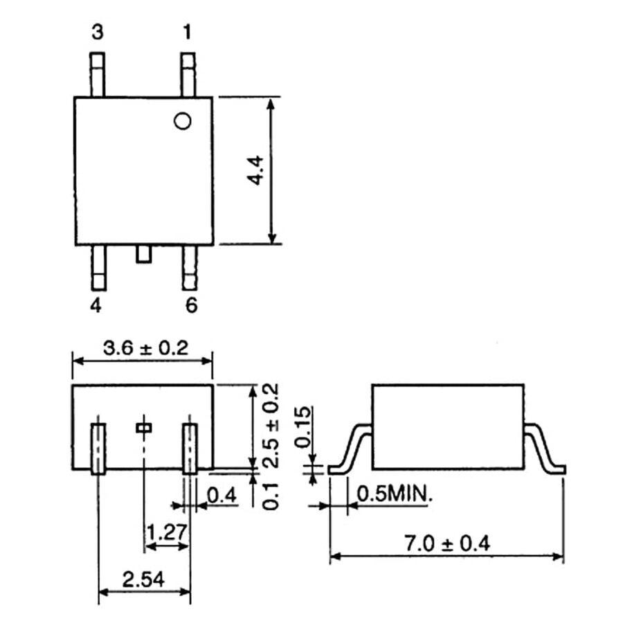 TLP161J 600V 10mA SMD Triyak SCR Çıkışlı Optokuplör Entegresi MFSOP6-4L