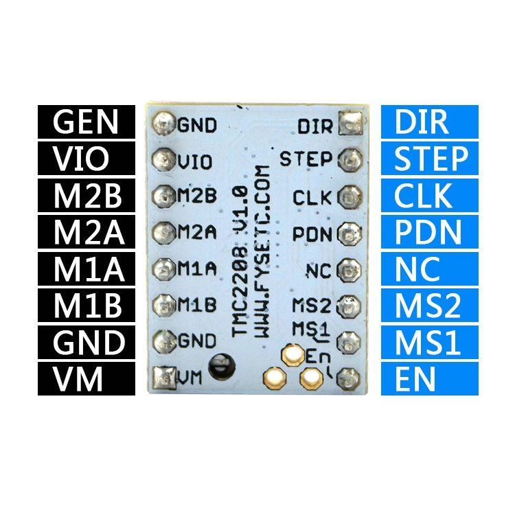 TMC2208 Step Motor Sürücü Kartı