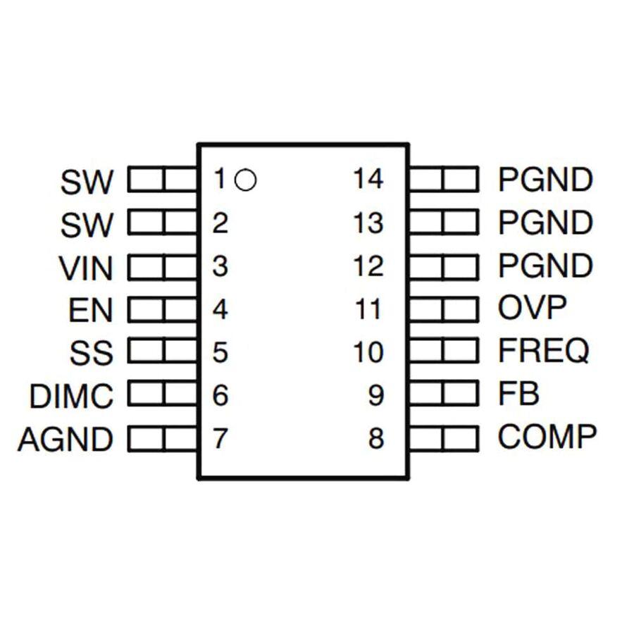 TPS61500PWPR SMD LED Sürücüsü Entegresi TSSOP14