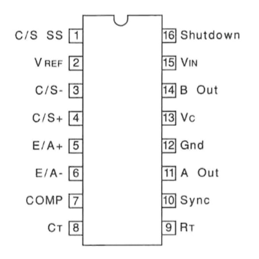 UC3846N-TI 500kHz PWM Denetleyici PDIP16