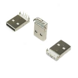 MS 045 USB 2.0 A 90C Erkek Soket - Thumbnail
