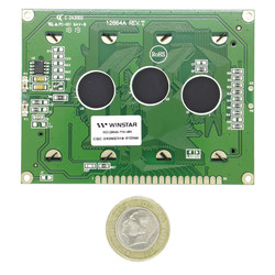 128x64 Grafik Lcd Ekran Yeşil - WG12864A-YYH-V#N - Thumbnail