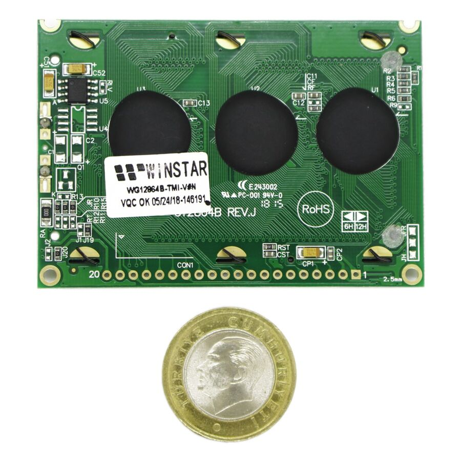 128x64 Grafik Lcd Ekran Mavi - WG12864B-TMI-V#N