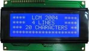4x20 Karakter Lcd Ekran Mavi - WH2004A-TMI-CT