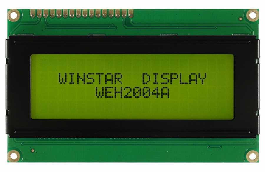 4x20 Karakter Lcd Ekran Yeşil - WH2004A-YYH-ET