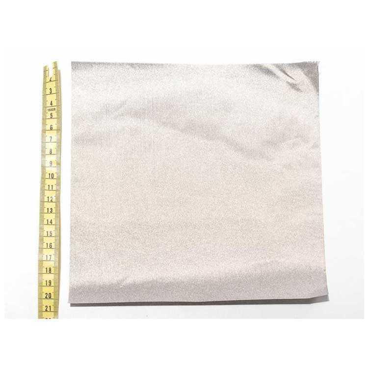 Dokuma İletken Kumaş 20x20cm Kare Gümüş Renk